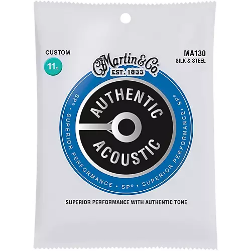Martin MA130 Authentic Acoustic Guitar Strings, Silk & Steel