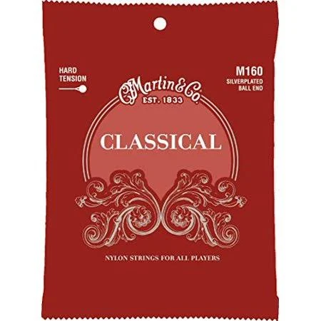 Martin M160 Classical Hard Tension Silverplated, Ball End Strings