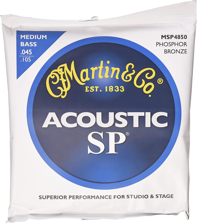 Martin Phosphor Bronze Acoustic Bass Strings, Med.