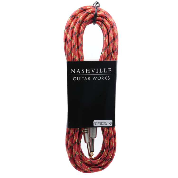 NGW 20' Vintweed Instrument Cable-Red