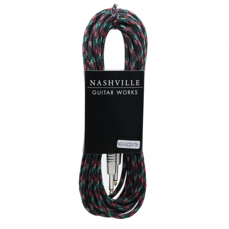 NGW 20' Vintweed Instrument Cable-Black