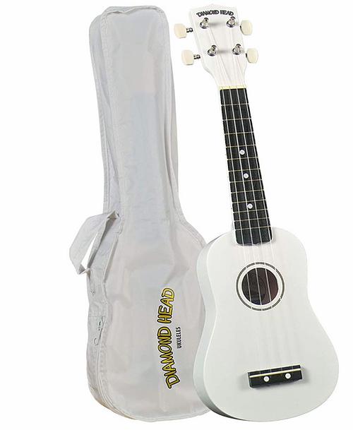 Diamondhead DU-109 Soprano Uke w/ Bag- White