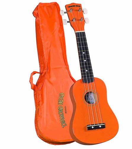 Diamondhead DU-103 Soprano Uke w/ Bag- Orange