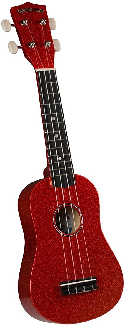 Diamond Head DU-142 Hot Rod Series  Soprano Uke w/ bag- Candy Apple Red