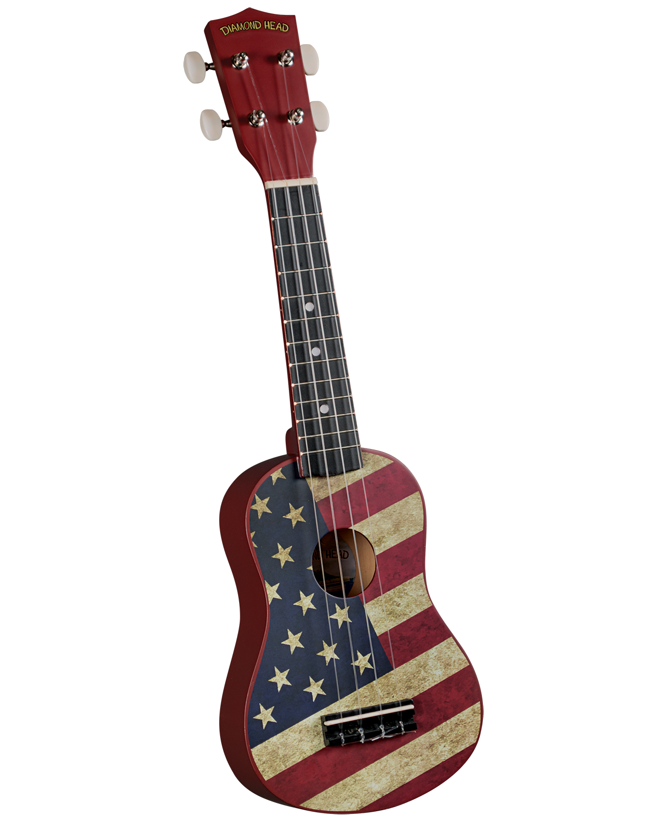 Diamond Head DU-131 Soprano Ukulele w/ Bag- US Flag