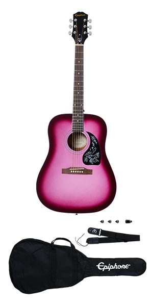 Epiphone Starling Acoustic Guitar Pack-Hot Pink Pearl