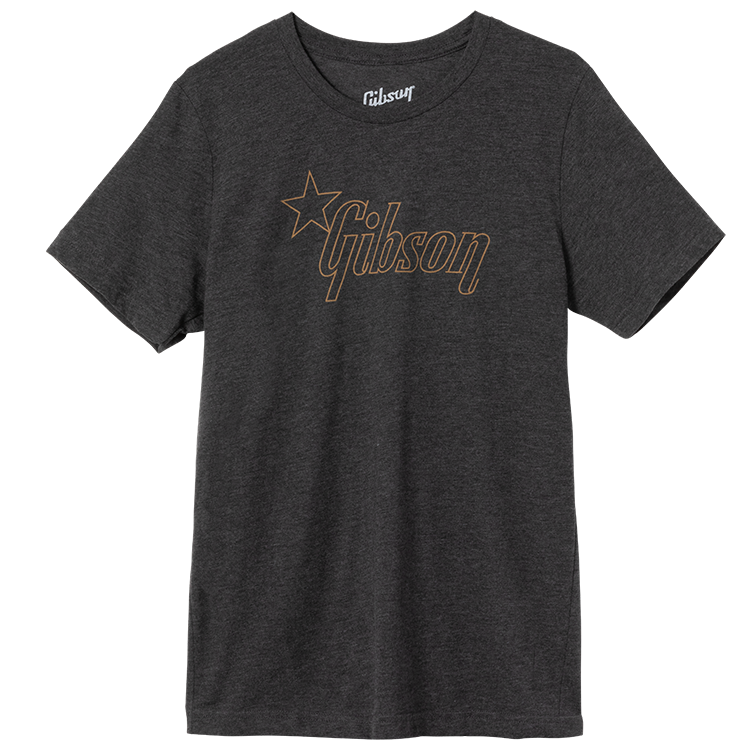 Gibson Star Logo T-Shirt (Charcoal)-Dark Heather