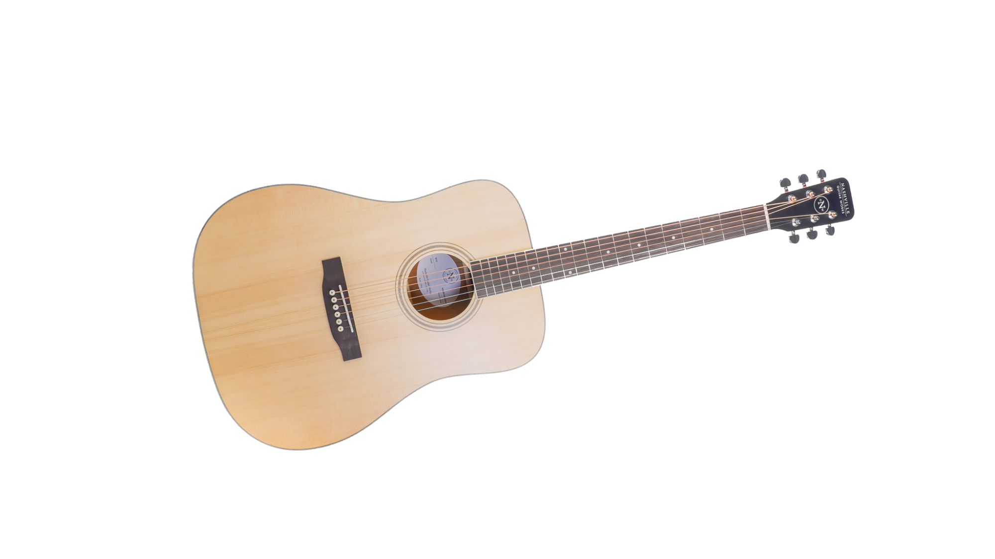NGW D10 Dreadnought Acoustic Guitar-Natural