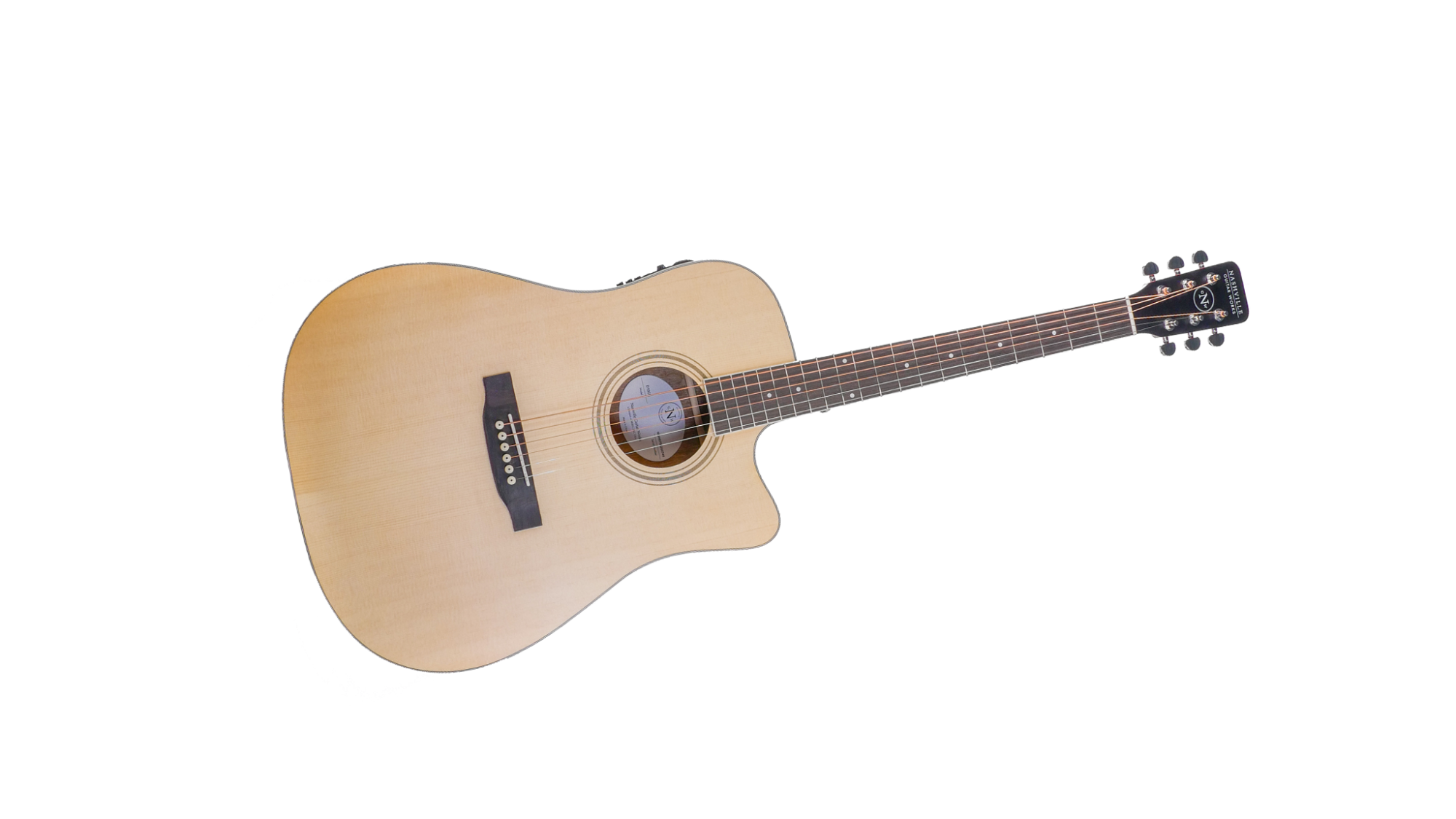 NGW D10CE Dreadnought Acoustic/Electric Guitar-Natural
