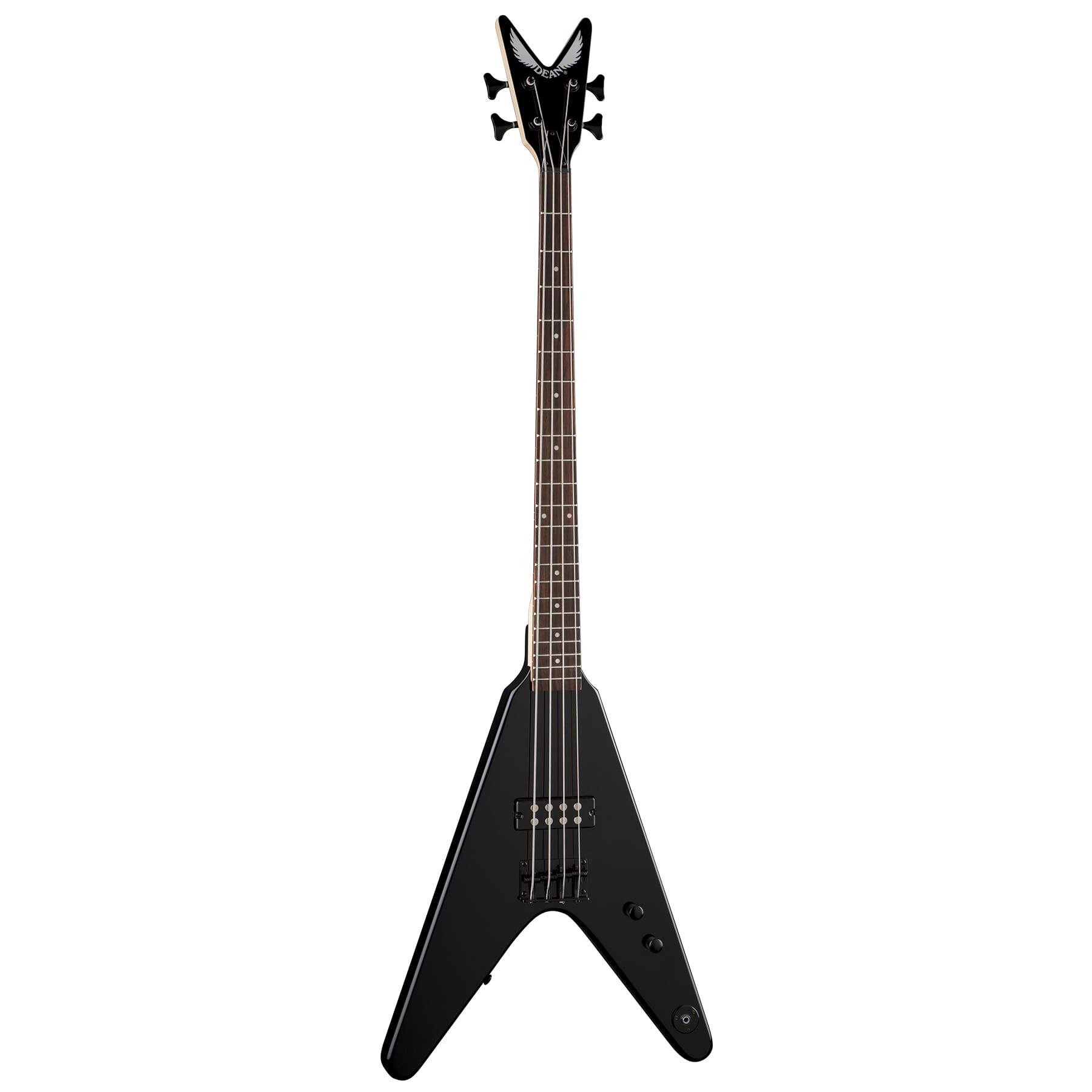 Dean V Metalman-Classic Black Bass