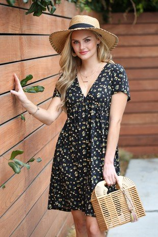 A- Line Mini Dress Black