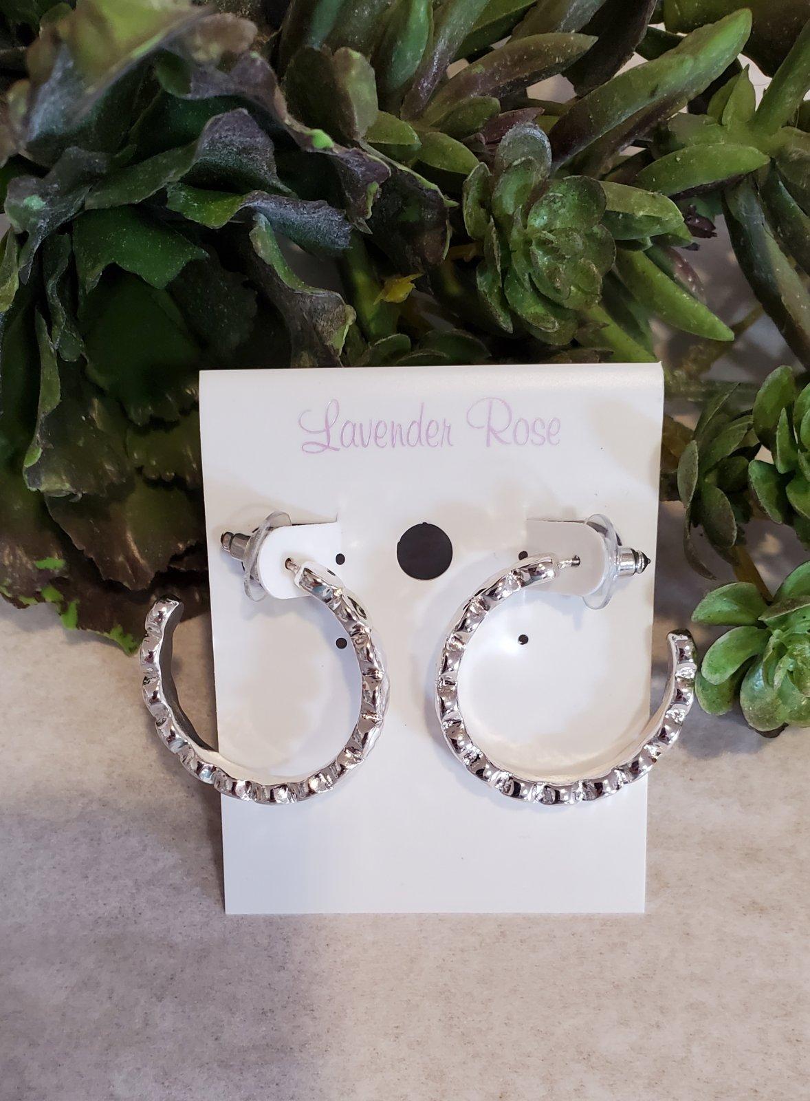 Silver Circle Hoops Earrings