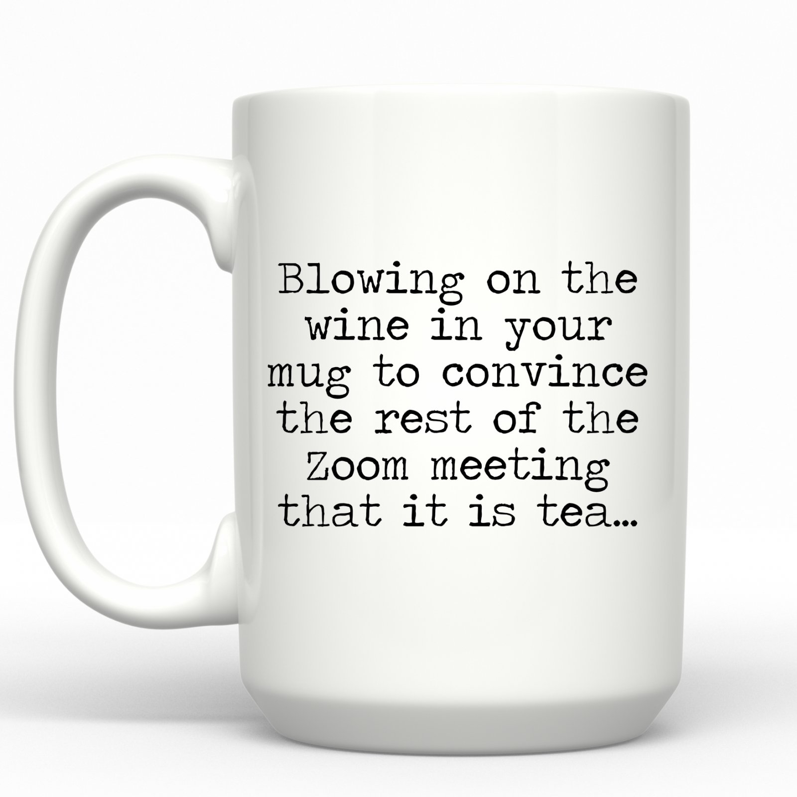 Blowing on the Wine Mug