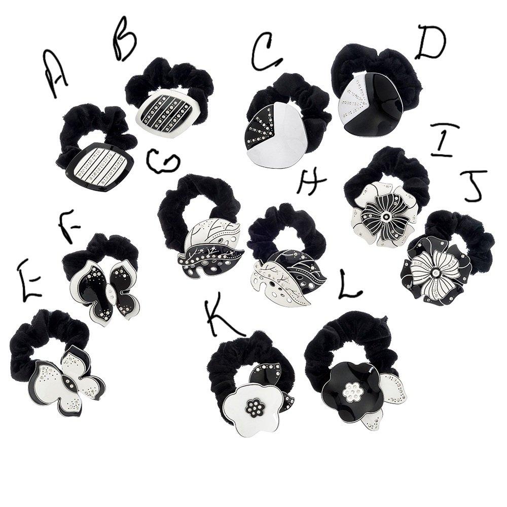 Hair Ties Black & White