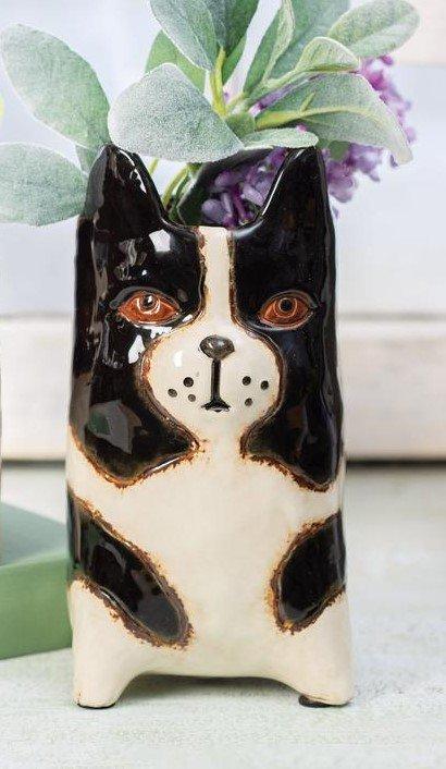 Ceramic Dog Planter L