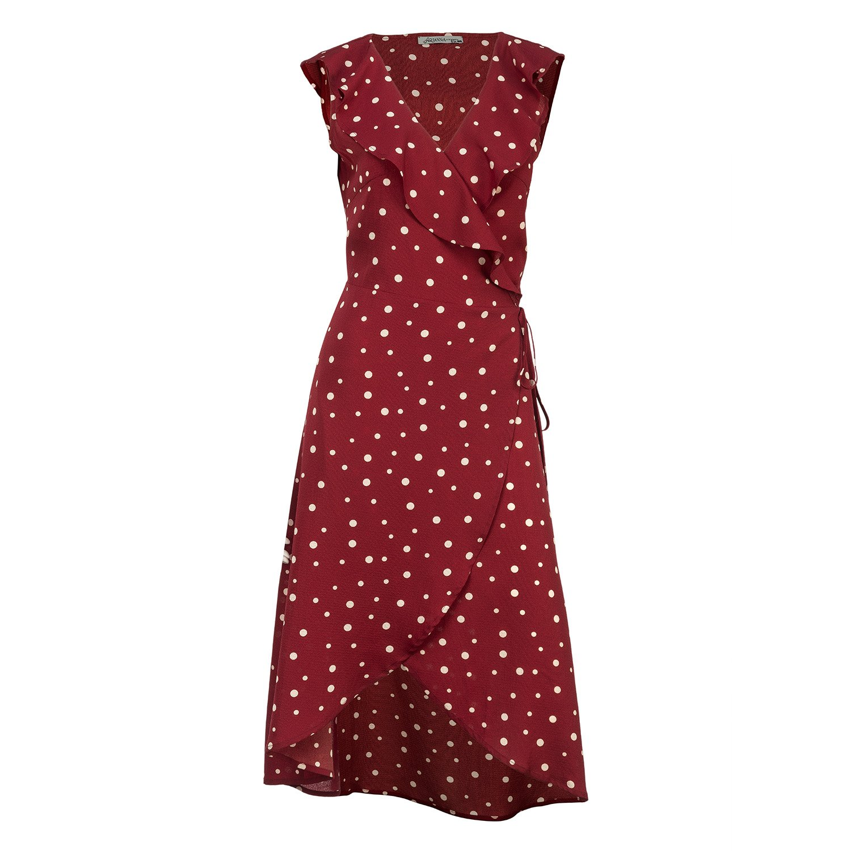 Red Polka Dot Wrap Dress