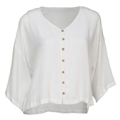 Loose fit Blouse-Ivory