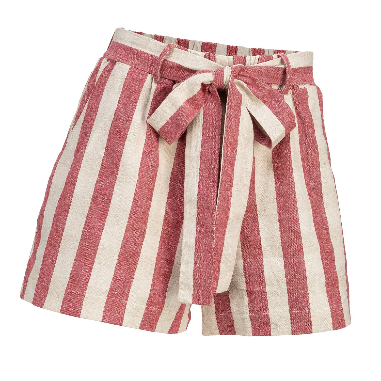 Striped Red Shorts