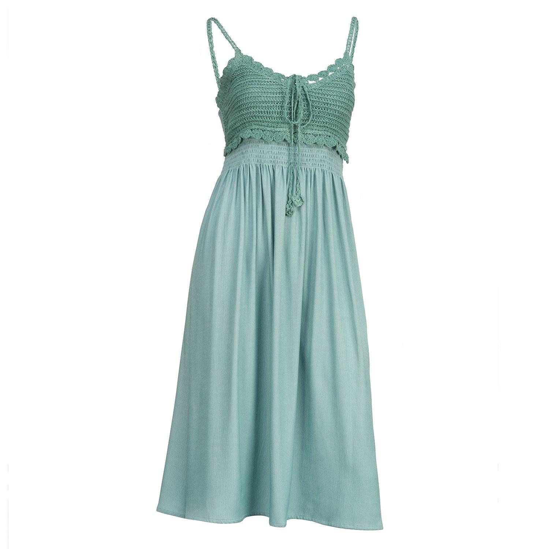 SLEEVELESS DRESS- TURQ