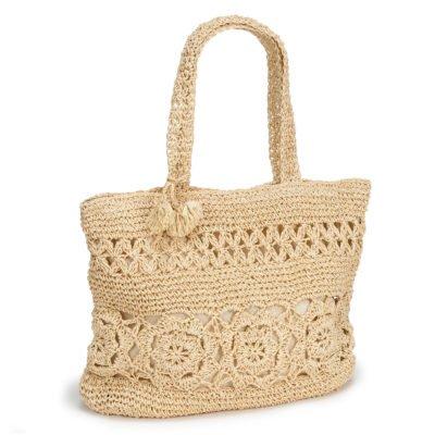 Large Woven Bag Natural