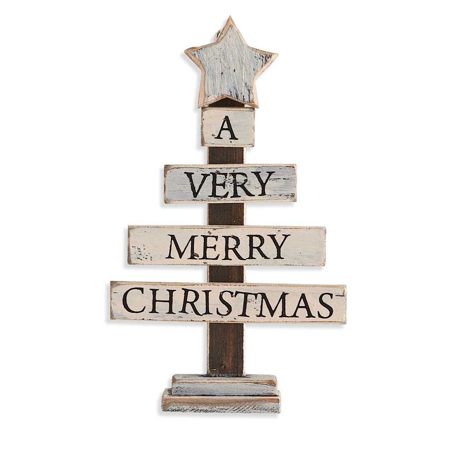 7 White Wooden Merry Christmas