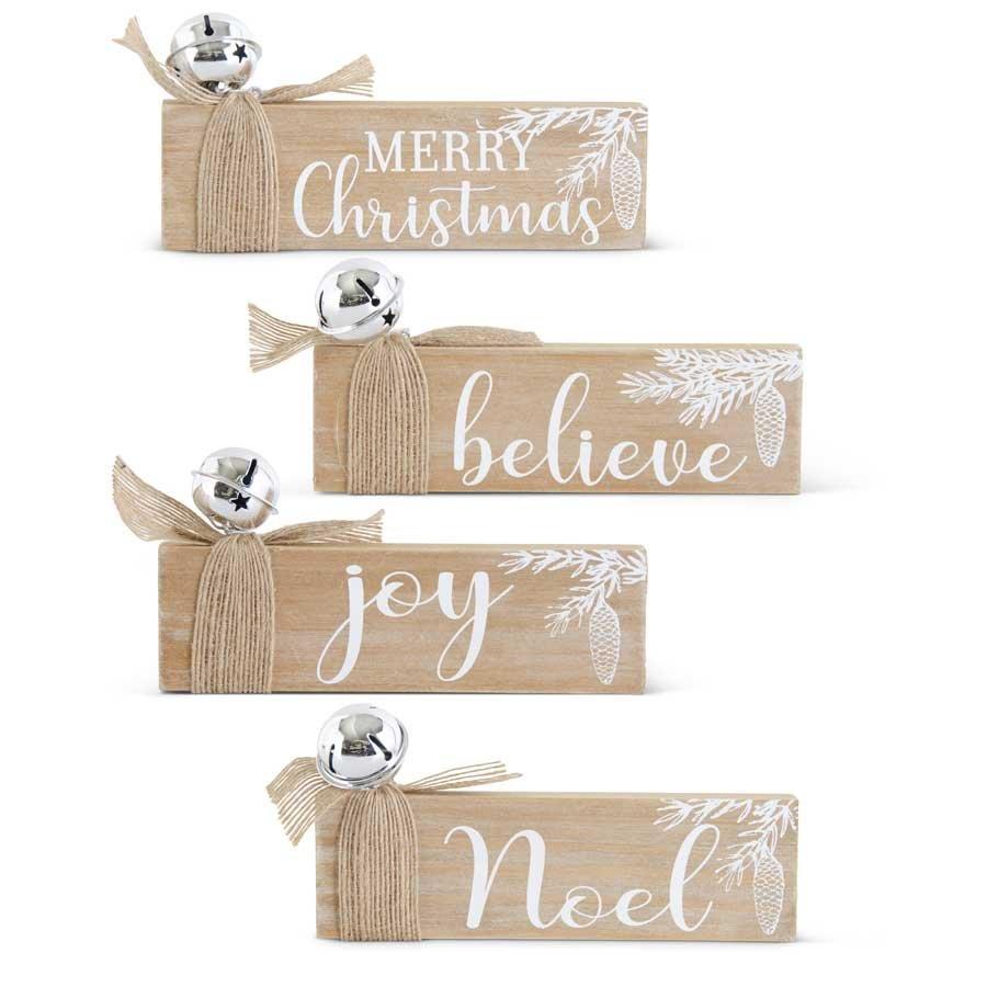 Wood Christmas Tabletop Sign