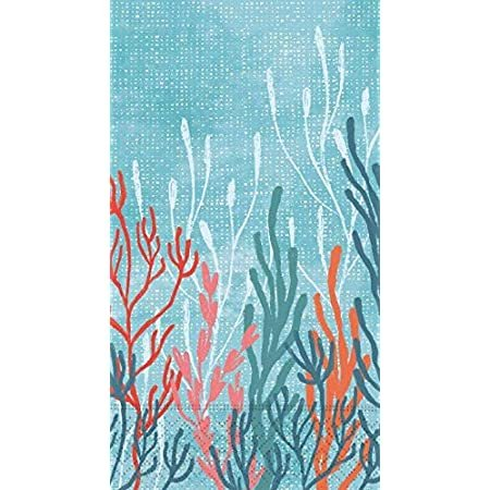 Coral Tranquility Guest Napkin