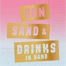 Sun Sand Drinks Bev Napkins