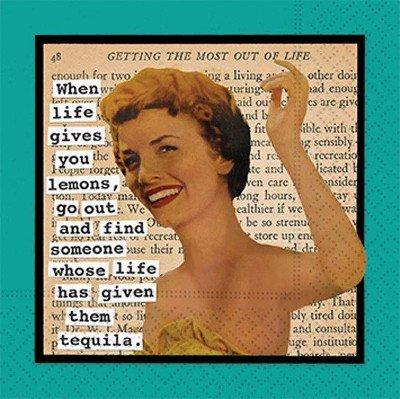Life Lemons Tequilla Bev Napkin