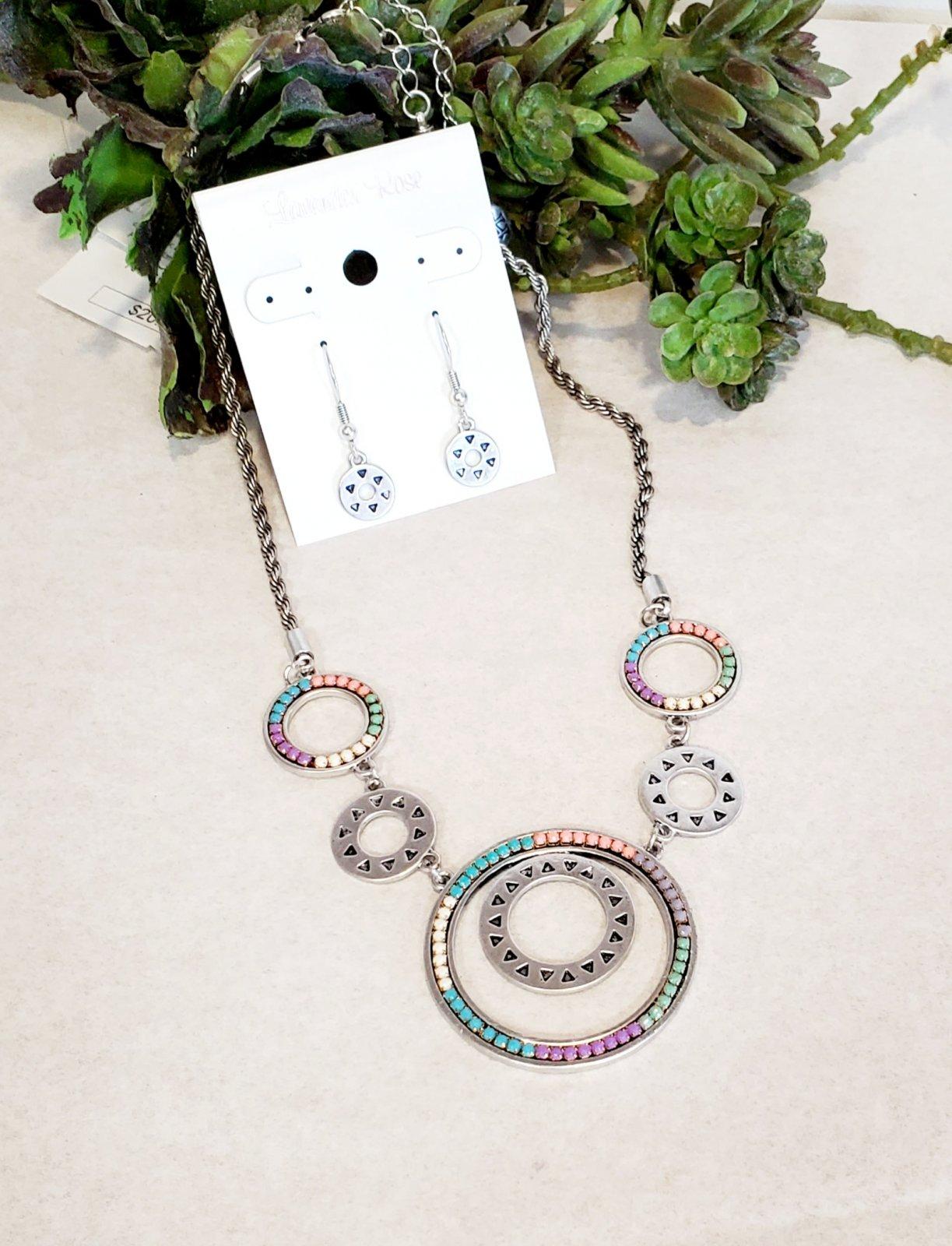 Multi Colored Circle Necklace