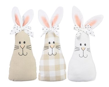 Fabric Rabbit with Bow