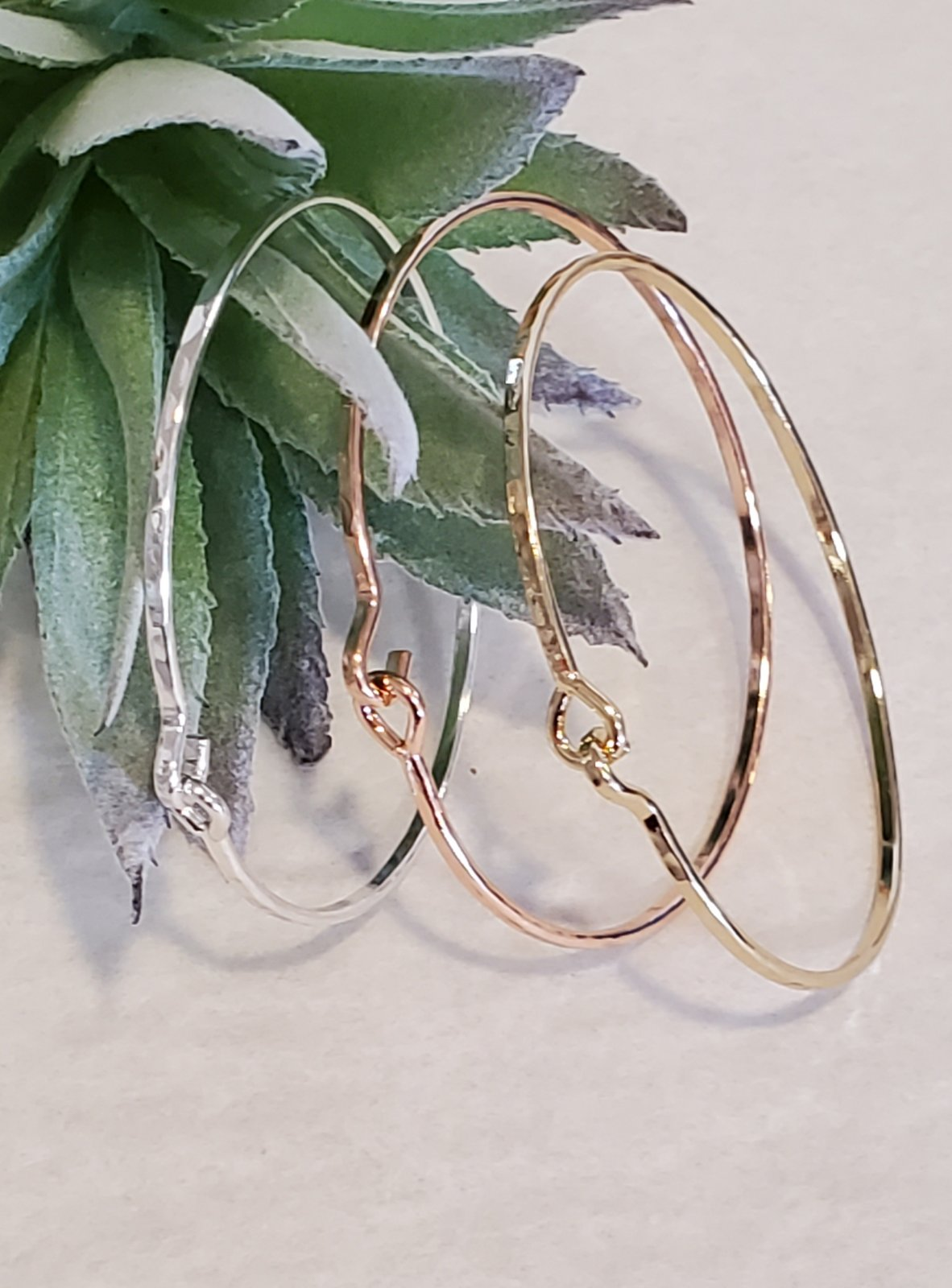 3 in one Sliver,Gold and Copper Bracelets