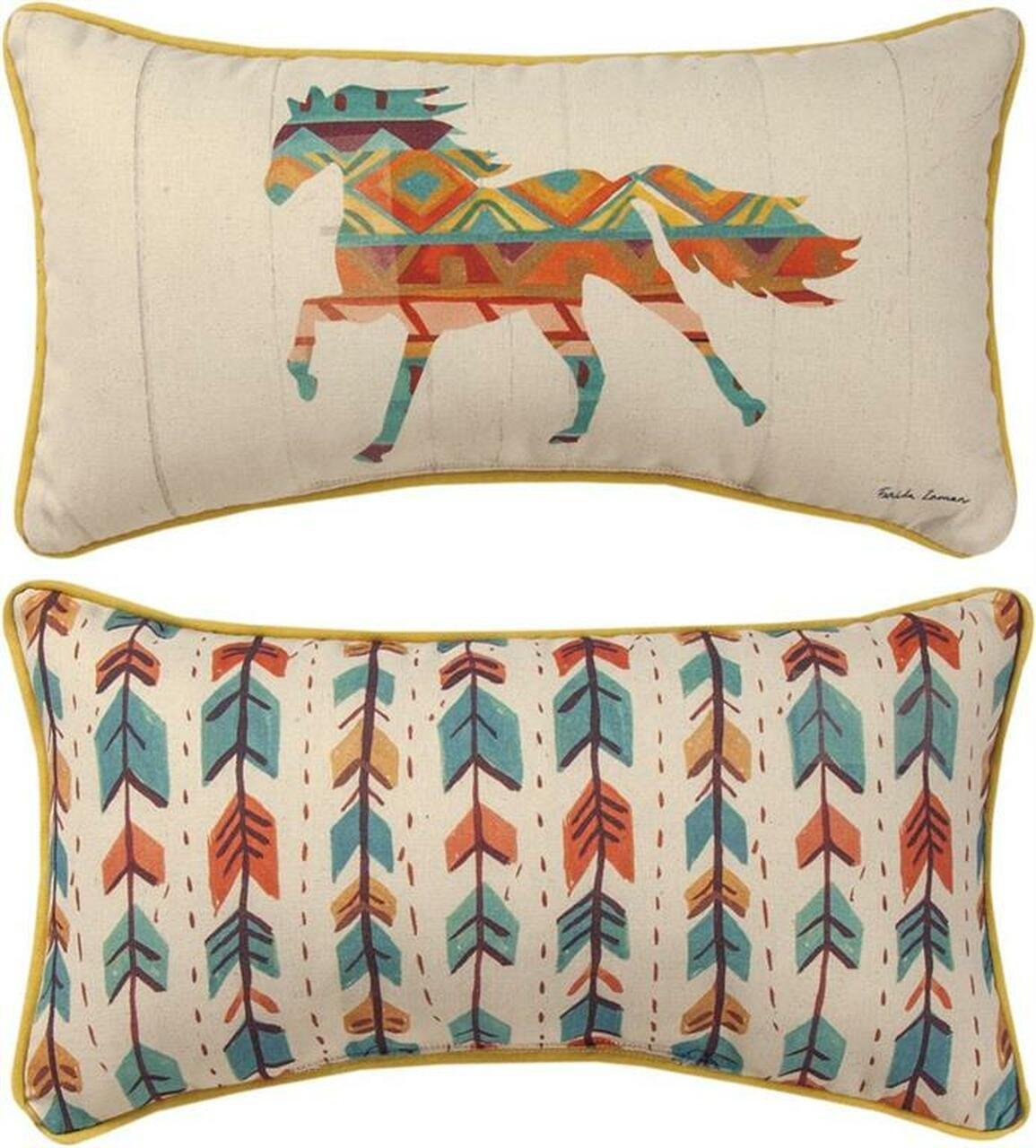 Southwest Vibe Horse Pillow