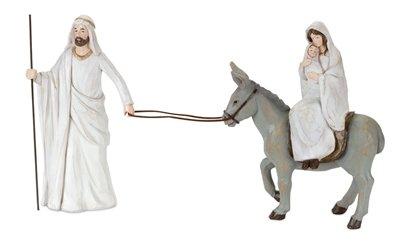 Holiday Family with Donkey