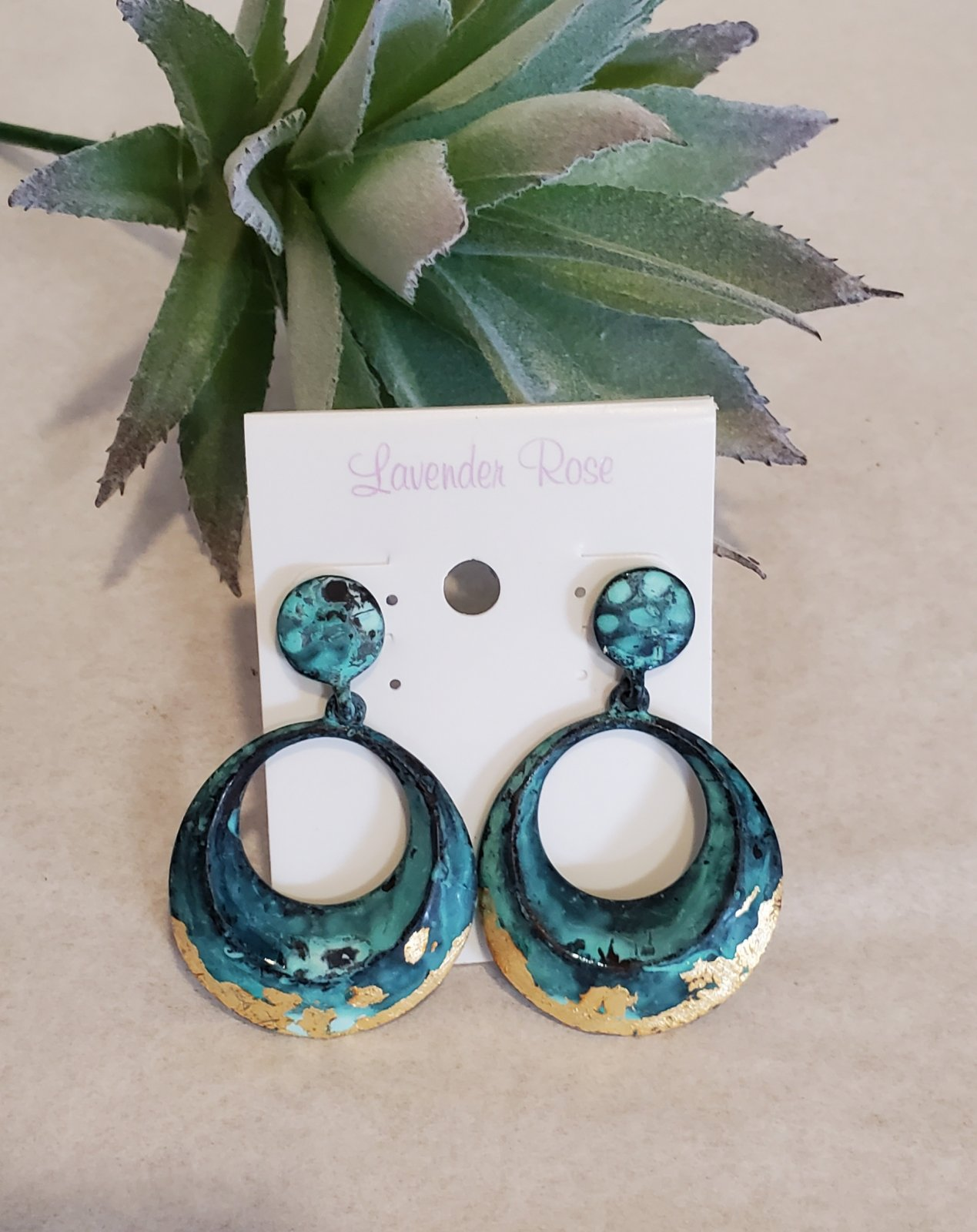 Patina Drop Earrings