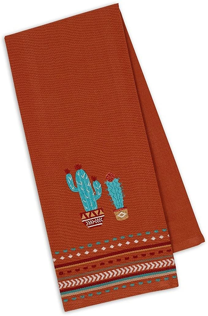 Cactus Embroidered Dish Towel