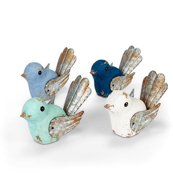 Wooden Birds, 4 Ast