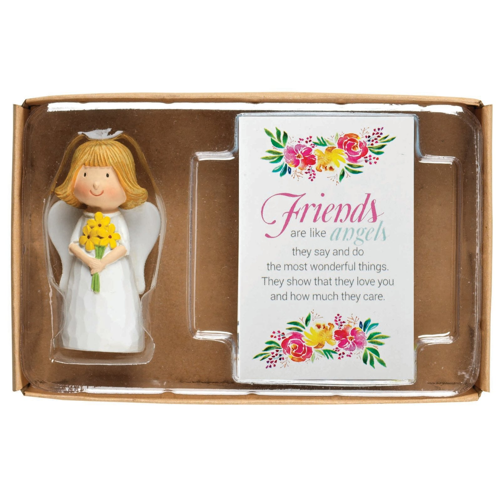 Angel Pray Crd Friends Are Like Angels Figurine and Card