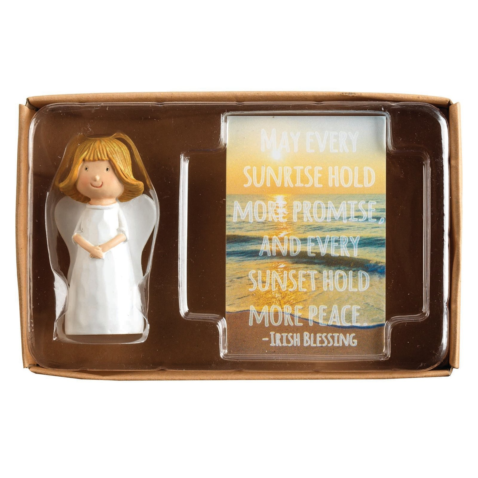 Angel With Folded Hands May Every Sunrise Blessings Card