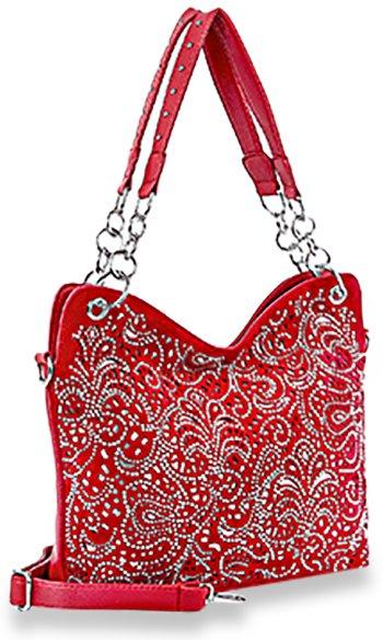 Layered Rhinestone Fashion Handbag