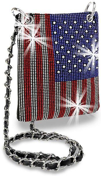 American Flag Petite Crossbody Sling