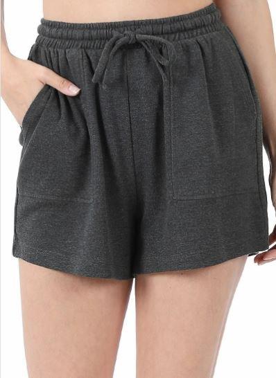 Charcoal Cotton Shorts