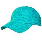 Turquoise Glitter Cap