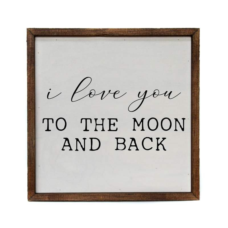 I Love You Moon 10x10 Wall Sign