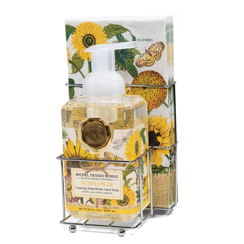 Sunflower Foaming Hand Soap Napkin Set