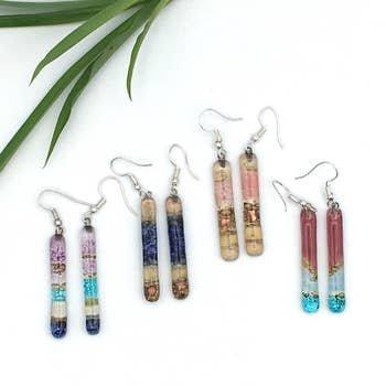 Long Stem Glass Earrings