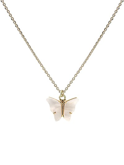 WH-G G ACRYLIC BUTTERFLY CHARM NECK LEN:16+3IN