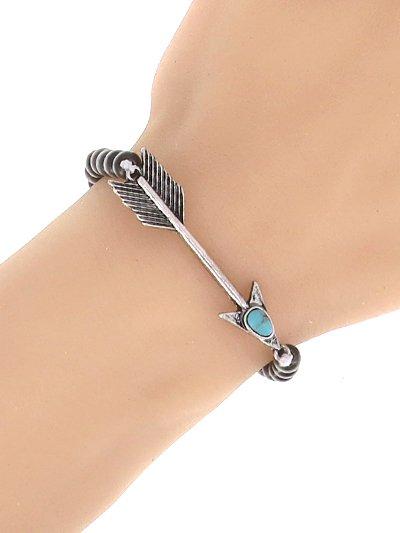 Turquoise Stone Arrow Beaded Bracelet
