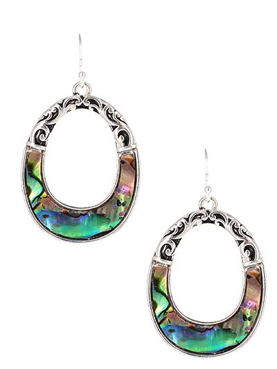 Tailored Filigee / Abalone Earring