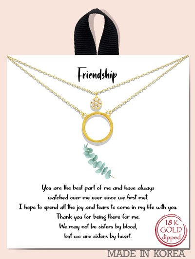 FRIENDSHIP / OPEN CIRCLE AND PAVE C UBIC ZIRCONIA DOUB